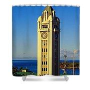 Aloha Tower Shower Curtain