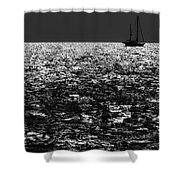 Alone At Sea Shower Curtain