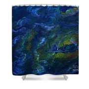 Alone In The Clouds Shower Curtain