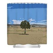 Alone Shower Curtain