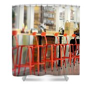 Alone On The Stool Shower Curtain