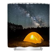 Alone Under The Stars Shower Curtain