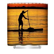 Alone With The Sun Shower Curtain by Karen Wiles
