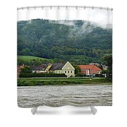 Along The Blue Danube Shower Curtain