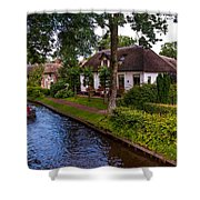 Along The Canal. Giethoorn. Netherland Shower Curtain