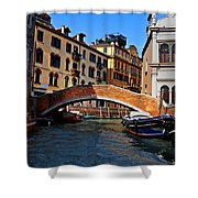 Along The Canals Of Venice Shower Curtain