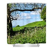 Along The Coastal Path - Lyme Regis 2 Shower Curtain