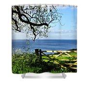 Along The Coastal Path - Lyme Regis Shower Curtain