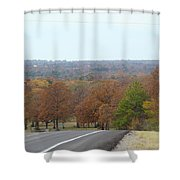 Along The Country Highway 1 Shower Curtain