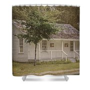 Along The Country Road Shower Curtain