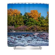 Along The Creek Shower Curtain