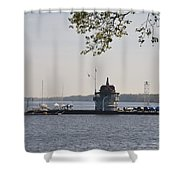 Along The Delaware River In New Jersey Shower Curtain