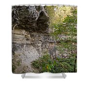 Along The Grotto Shower Curtain