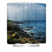 Along The Marginal Way Shower Curtain