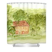 Along The Midi Canal Shower Curtain