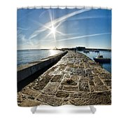 Along The North Wall Shower Curtain