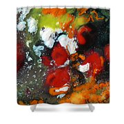 Along The Orange String Road Shower Curtain
