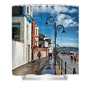 Along The Promenade - Lyme Regis Shower Curtain