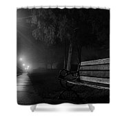 Along The River Walk Shower Curtain