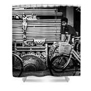 Along The Road Of Life Shower Curtain