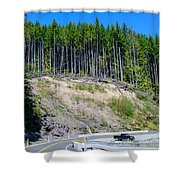Along The Roadway Shower Curtain