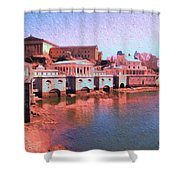 Along The Schuylkill At The Philadelphia Waterworks Shower Curtain