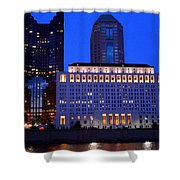 Along The Scioto At Night Shower Curtain
