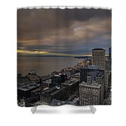 Along The Seattle Waterfront Shower Curtain