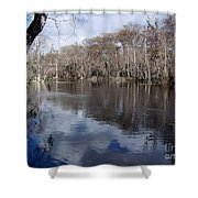 Silver River - Reflections Shower Curtain