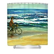 Along The Surf Shower Curtain