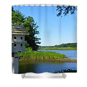 Along The Taunton River Shower Curtain