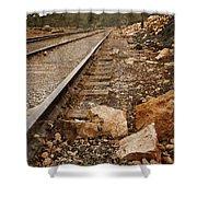 Along The Tracks Shower Curtain