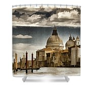 Along The Venice Canal Shower Curtain