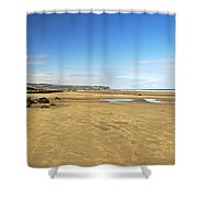 Along Whitby Sands Shower Curtain
