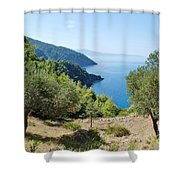 Alonissos Island Shower Curtain
