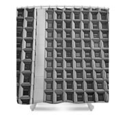Alot Of Windows In Black And White Shower Curtain