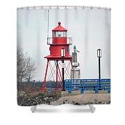 Alpena Lighthouse Shower Curtain