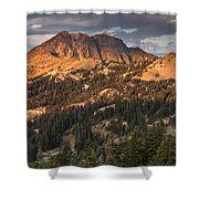 Alpenglow On Brokeoff Mountain Shower Curtain