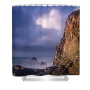 Alpenglow On Wedding Rock Shower Curtain