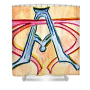 Alpha And Omega - Study #2 Shower Curtain