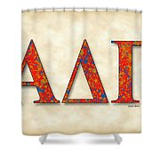 Alpha Delta Gamma - Parchment Shower Curtain