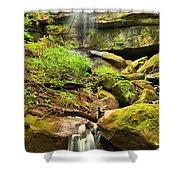 Alpha Falls Cascades Shower Curtain
