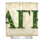 Alpha Gamma Rho - Parchment Shower Curtain