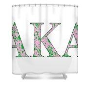 Alpha Kappa Alpha - White Shower Curtain