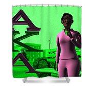 Alpha Sister Shower Curtain