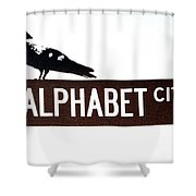 Alphabet City Shower Curtain