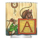 Alphabet Mice Shower Curtain