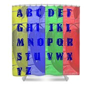 Alphabet With Apples Shower Curtain