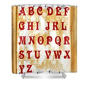 Alphabet With Scroll 2 Shower Curtain