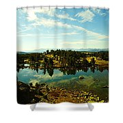 Alpine Lake Off The Beartooth Highway Shower Curtain